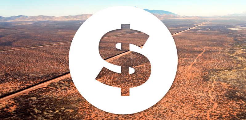 Dollar sign and border background