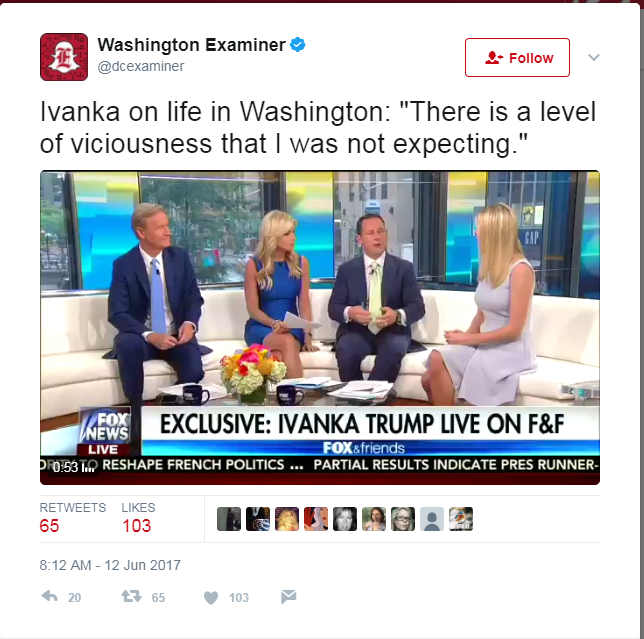 Ivanka Trump: There is 'a level of viciousness that I was not expecting'